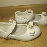 Святкові туфлі балетки на дівчинку білі Cонце Sb81-2 р.27-31 туфли, балетки нарядные белые