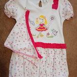 Платье с косынкой. Есть фиолетовое и розовое.