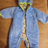 Теплый комбинезон для новорожденных,на хлопковой подкладке