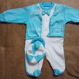 Нарядный человечек-смокинг для новорожденных,с кепкой