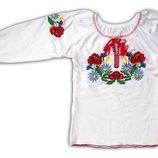 Вышиванка для девочки длинный рукав