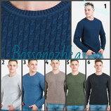свитер вязаный мужской, весна лето осень, джемпер вязкой косичка, Чоловічий светр