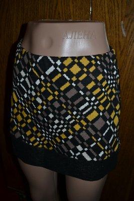 S Тёплая мини юбка, мини юбка, юбка короткая, вязаная юбка, юбка яркой расцветки, юбка с поясом