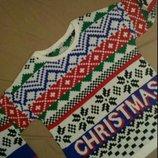 Свитер новогодний, скандинавский, модный орнамент