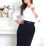 Элегантная черная юбка карандаш большой размер
