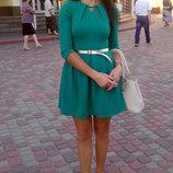 Нарядное зеленое платье S
