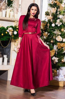 Элегантное длинное вечернее платье 3013 Мемори Клёш Макси Подвеска в расцветках.