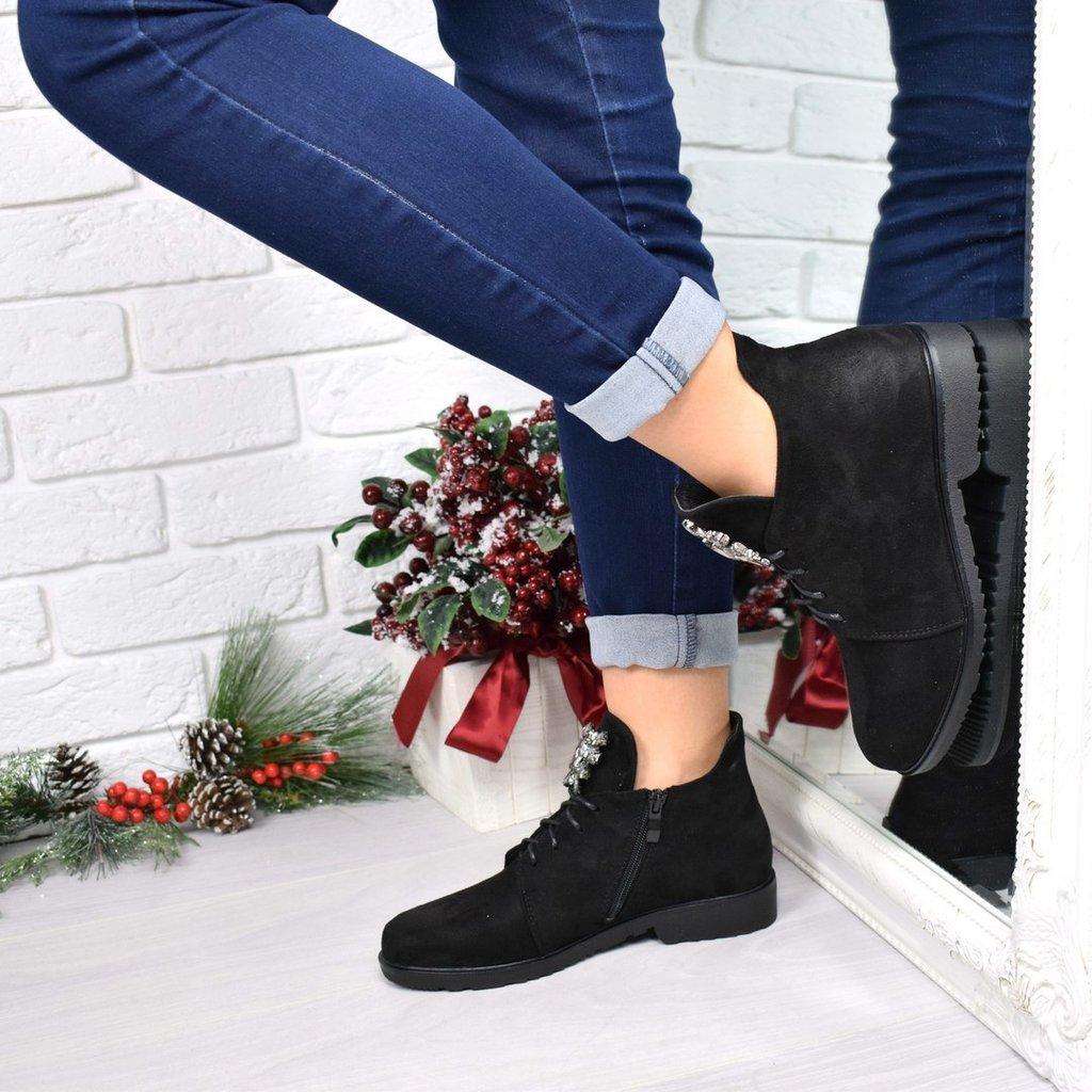 Ботинки Esfero камни, черные  480 грн - демисезонные ботинки в Киеве,  объявление №15635568 Клубок (ранее Клумба) ed52850c4a7