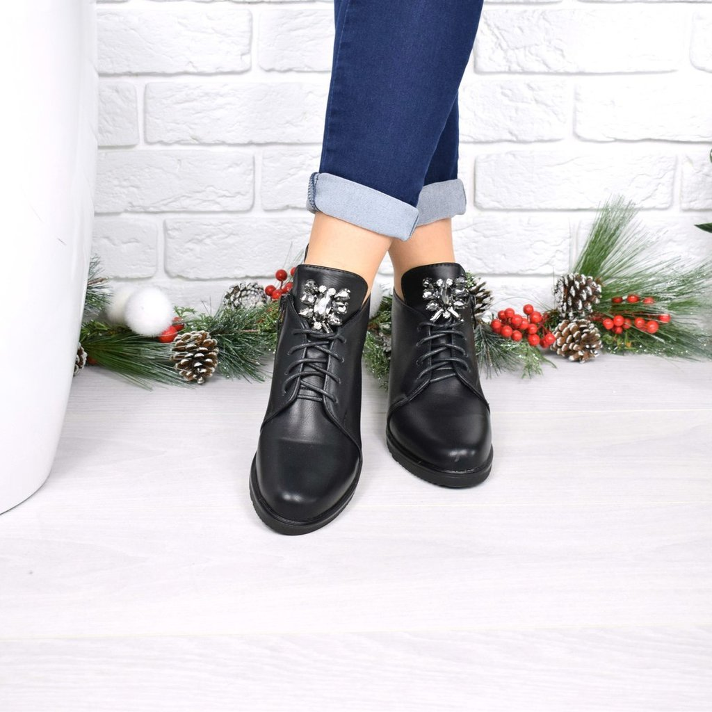 Ботинки Esfero камни, черные  480 грн - демисезонные ботинки в Киеве,  объявление №15635588 Клубок (ранее Клумба) 30f424b3eca