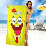 Желтое полотенце Sponge Bob - 1631