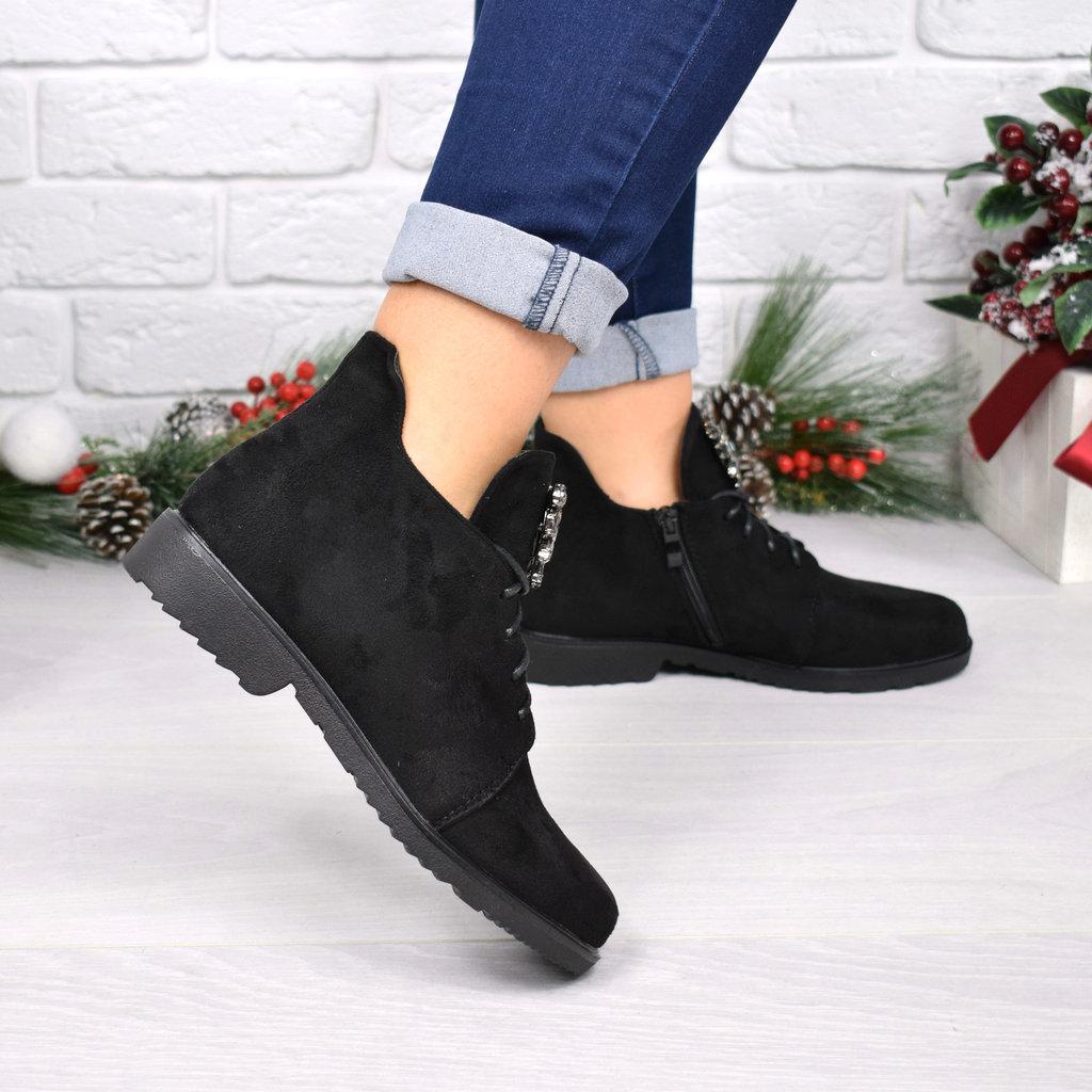 4015 Ботинки женские Esfero черные замша  425 грн - демисезонные ботинки в  Ивано-Франковске, объявление №15637770 Клубок (ранее Клумба) a2a3880fde9