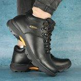 Мужские зимние Ботинки Ecco black