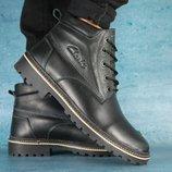 Зимние мужские ботинки Clarks black