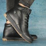Мужские зимние Ботинки Olimp black