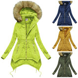 Женская ассиметричная куртка зимня