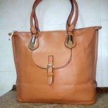 Шикарная Стильная и вместительная женская сумка Металлическая молния