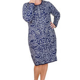 Теплое вязаное платье Лотос