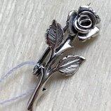 Булавка серебро 925 брошь Роза 7137