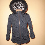 Теплая куртка George на 2-3 года утпленная, подкладка-флис
