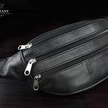 Барсетка, сумка на пояс натуральная кожа Польша