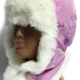 Качественная зимняя шапка, шапочка, ушанка Boobon на синтепоне на 1,5-3 года