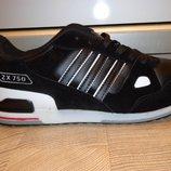 Мужские кроссовки Adidas ZX 750 натуральная замша кожа , акция