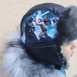 Детская зимняя шапка на мальчика Звёздные войны