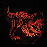 Тираннозавр, акриловый светильник, много разных тематик,ночник, лампа, динозавр, несколько подсветок