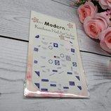 Наклейка на ногти, наклейка для ногтей, ногтевой дизайн цветы 10 шт набор