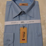 Рубашка голубая полоса р.29, р.31