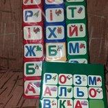 Обучающий конструктор с алфавитом, кубики