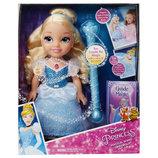 Интерактивная кукла Дисней принцесса Золушка Disney Princess Cinderella Doll with Magical Wand Blond