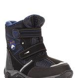 Термоботинки для мальчика C-B26-80-B Biki синий, черный 34, 35, 36, 37, 38 Зимние термоботинки для