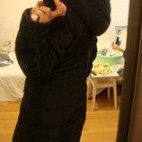 Exclusive пальто черное на теплую зиму размер 44