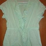 Блузка легкая цвет мяты/Блуза цвет мяты /Рубашка/Кофточка