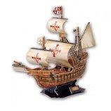 Трехмерная головолока-конструктор Корабль Санта Мария Тм Cubic Fun Сложность 5 из 6 Акция
