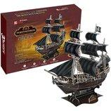 Трёхмерный конструктор - головоломка Корабль Черной Бороды Месть Королевы Анны 6 уровень сложност