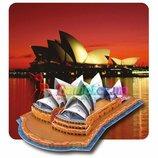 Трёхмерный конструктор - головоломка Сиднейская опера 4 уровень сложности