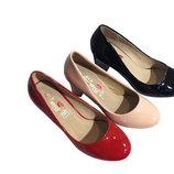 Женские туфли на маленьком каблуке 36-41рр.