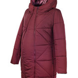 Зимнее теплое пальто для беременных, куртка для беременных, куртка для вагітних, бордо