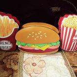 Оригинальная вкусная сумка гамбургер, картошка фри, поп корн В Наличии