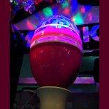 LED лампа / дискосветильник / дискошар Фонарь вращается