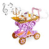 Disney сервировочная тележка с посудой Красавица и чудовище бель Belle's Tea Cart Play Set