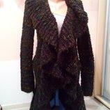 Фирменный женский вязанный кардиган. Вязанное пальто. ST- Martins