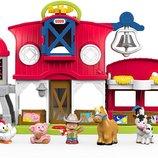 Fisher-Price большая музыкальная ферма с животными Little People Caring for Animals Farm Playset