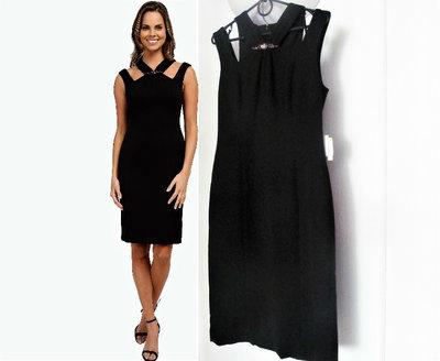 5ea8b7520121fbc Коктейльное платье с оригинальным декольте и вырезами по плечам 4 s-xs  42-44рр