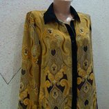 Шикарная блуза в королевский принт. размер 14-16
