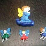 Гипсовые мини ангелочки, феечки или 3D раскраска