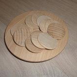 Заготовки круглые для рун украшений и декора 4 см