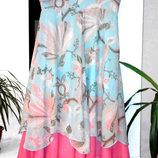 Очень красивое шифоновое платье сарафан с жарптицами